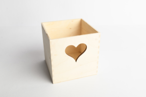 Krabička srdce 10x10x10 cm
