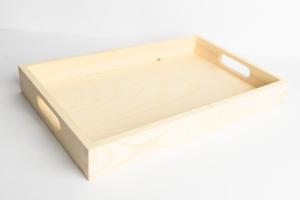dřevěný tácek