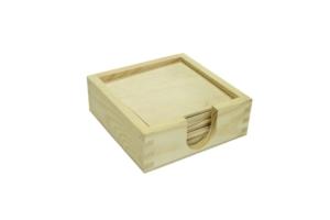 Krabička na podtácky a 8 podtácků
