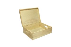 Dřevěná krabice s víkem velká