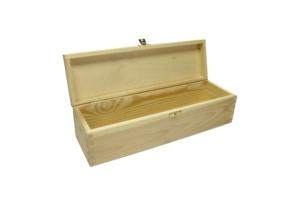 Dřevěná krabice na whiskey s uzávěrem