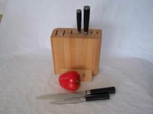 Blok na nože - celodřevěný pro 5 nožů